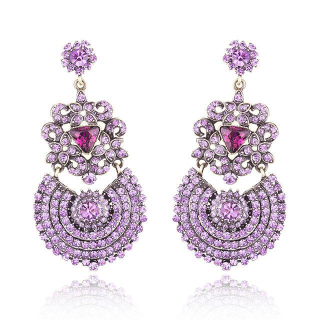 Cercei Borealy Simulated Sapphire Chandelier Purple Countess-big