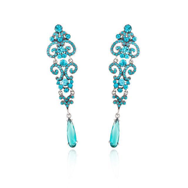 Cercei Chandelier Crystal Blue 1