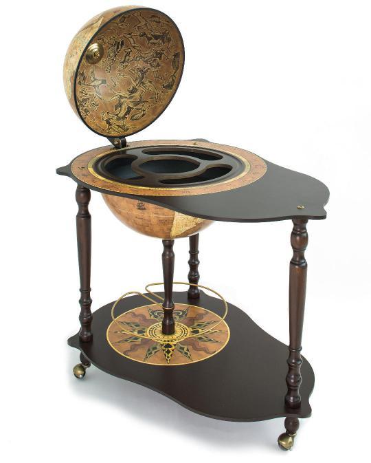 Michelangelo Trolley Table Bar Globe, by Zoffoli - made in Italy 0