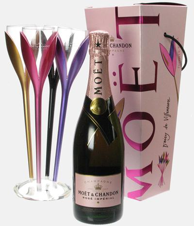 "Set ""Moet Rose Flower"" Sampanie Moet & Chandon Imperial Rose 0"