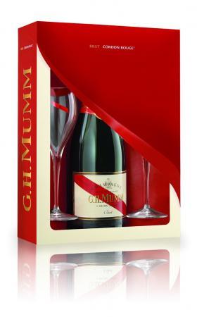 Sampanie MUMM Cordon Rouge Set cadou cu 2 pahare-big