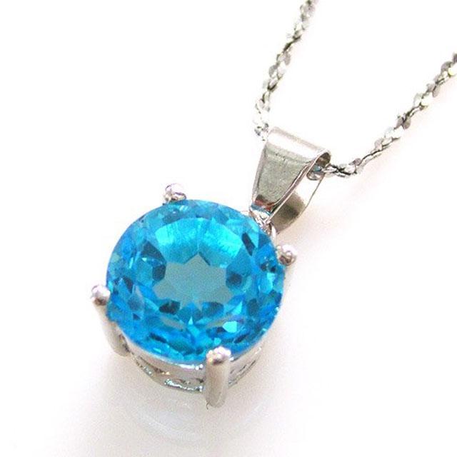 Medalion Topaz Natural Blue Stud 2,25 carate 2