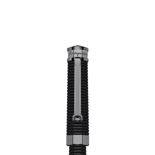 Nero Uno Linea Black Fountain Pen by Montegrappa, Made in Italy 1