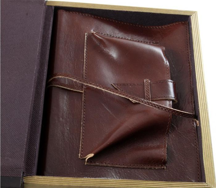 Office storage box & Brown Leather Notebook-big