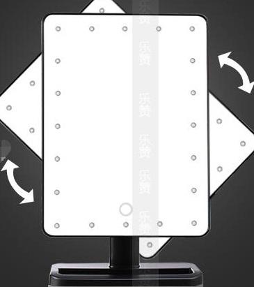 Oglinda Mare cu Leduri si Touch 22 cm, neagra 2