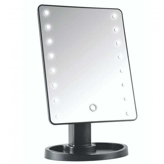 Oglinda Mare cu Leduri si Touch 22 cm, neagra 1