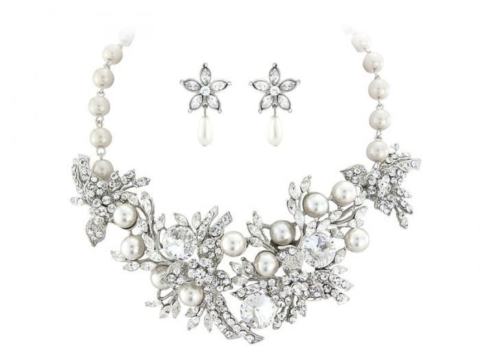 Set Borealy Pearl Colier şi Cercei Opulent Luxury Wedding-big