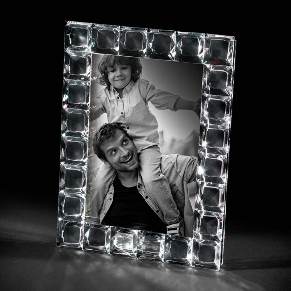 """Rama foto cristal QUADRETTI 13 X 18  """"LUX""""  Desk by Chinelli, made in Italy 0"""