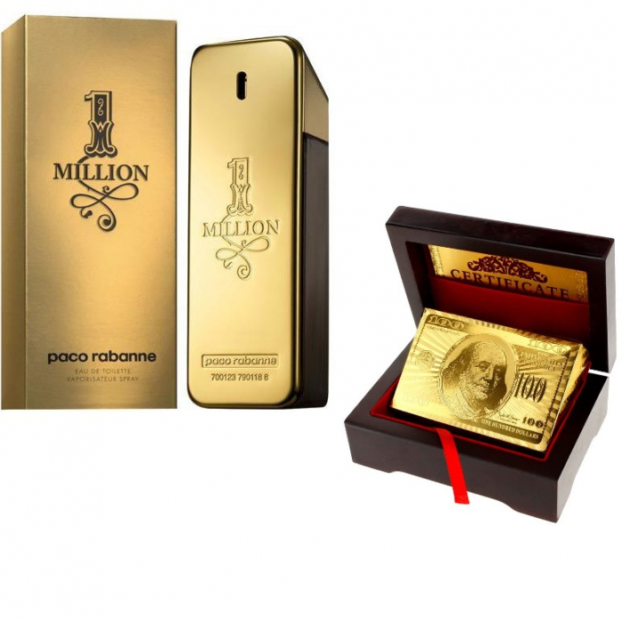 Paco Rabanne 1 Million 100 ml & Carti de joc Gold 0