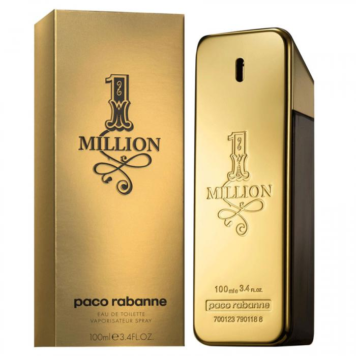 Paco Rabanne 1 Million 100 ml & Şampanie Gold - cu foiţă de aur 23 karate Infuhr-0,75 l-big