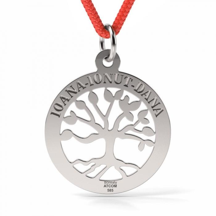 Pandantiv Copacul vietii cu Snur reglabil din Argint 925 personalizabil-big