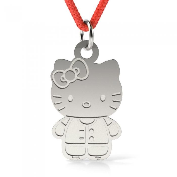 Pandantiv Hello Kitty cu Snur reglabil din Argint 925 personalizabil-big