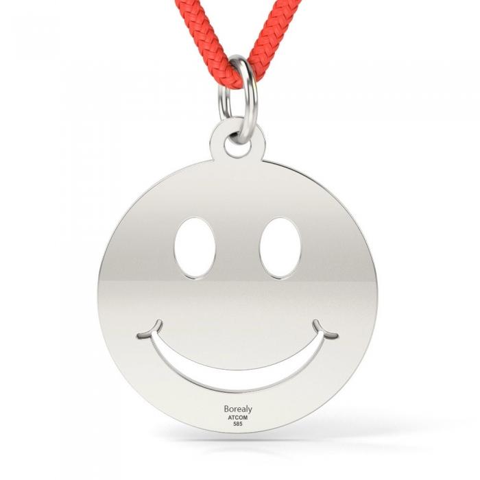 Pandantiv Smiley cu Snur reglabil din Argint 925 personalizabil-big