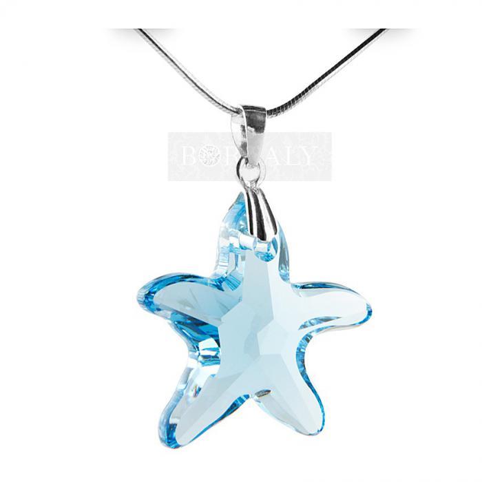 Cutie Muzicală Bijuterii Balerină Bleu&  Pandantiv 20 mm Blue Star-big
