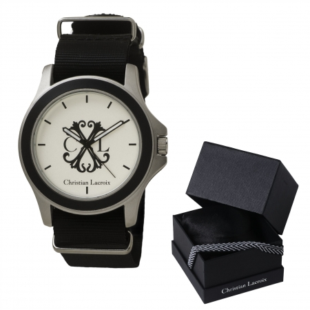 Passion for Watches Set Ceas Christian Lacroix si Butoni Noir Clock by Borealy 2