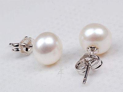 Cercei Perle Albe 7 mm AA Studs 1