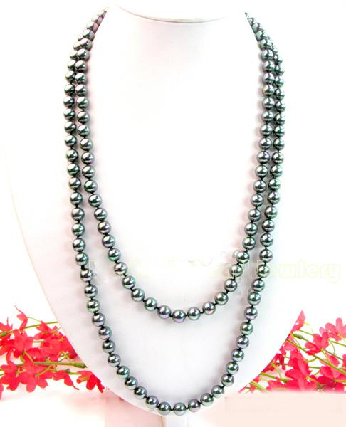 Black Magic Long Pearls Shell 2