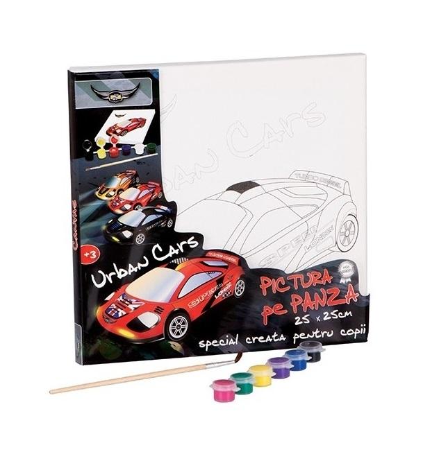 Pictura pe Panza Urban CARS 25 cm x 25 cm [0]