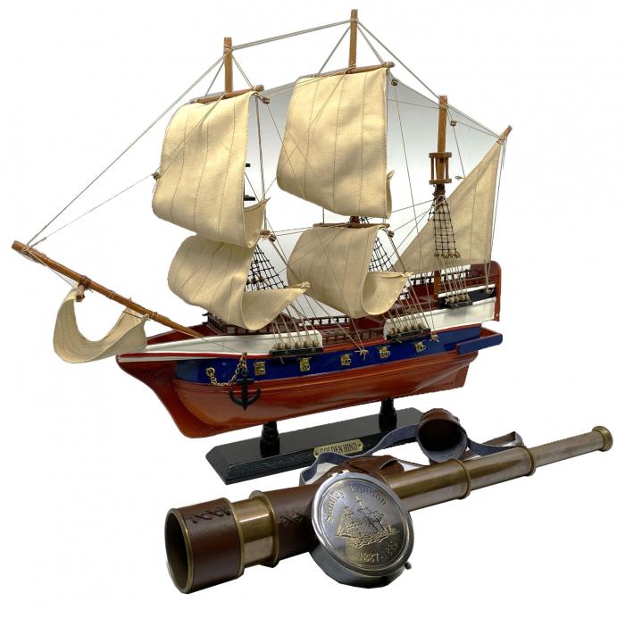 Traveller of the Seas: macheta corabie, luneta functionala, busola alama functionala [0]