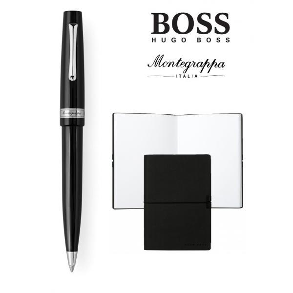 Set  Ballpoint  Armonia Nero Montegrappa si Note Pad Hugo Boss-big