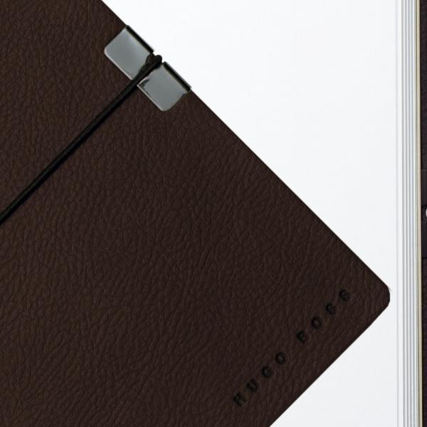Caseta cadou Pix & Roller Parker Accesorii Aur 23 kt. Brushed Metal si Note Pad Hugo Boss - personalizabil 3