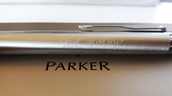 Pix & Roller Parker Silver Brushed Metal-big