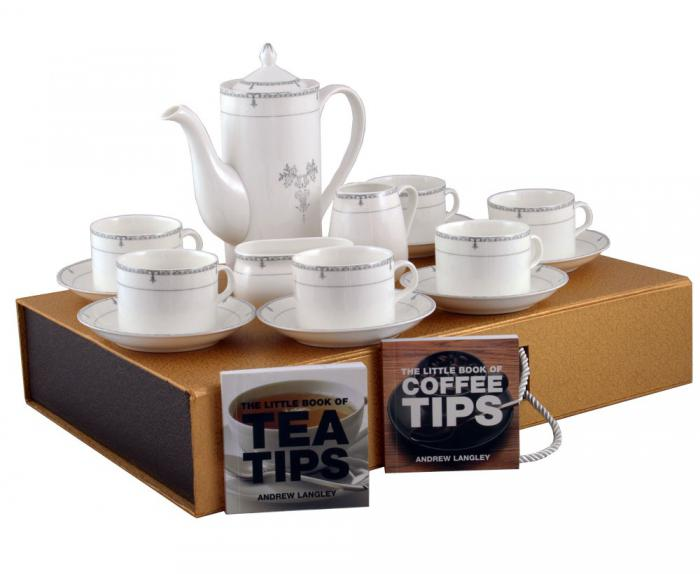 Porcelain Tea Set & Little Books of Tips 0