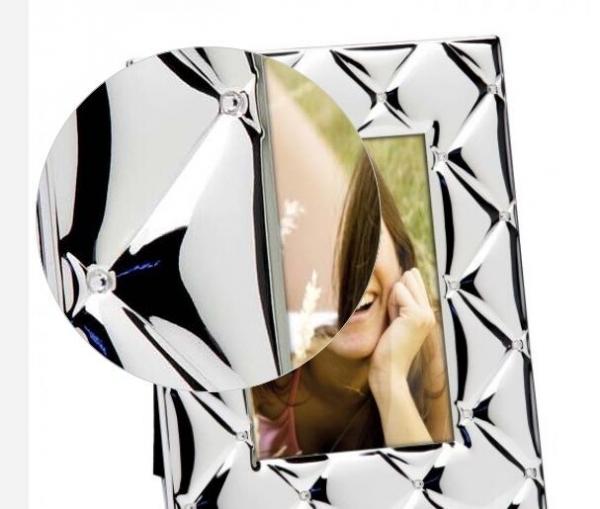 Ramă foto argint laminat by Chinelli cu Swarovski, made in Italy-big