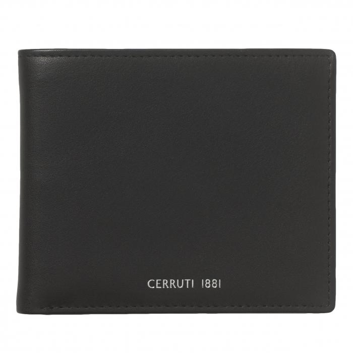 Portofel Cerruti 1881 Zoom Black piele naturala si Cravata Matase Borealy 1