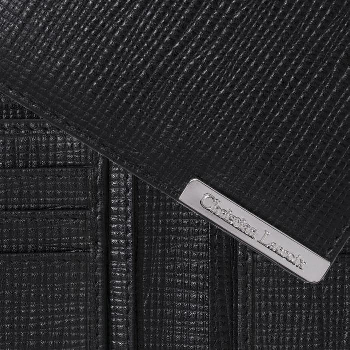 Portofel Christian Lacroix More Money Black piele naturala si Cravata Matase Borealy 1