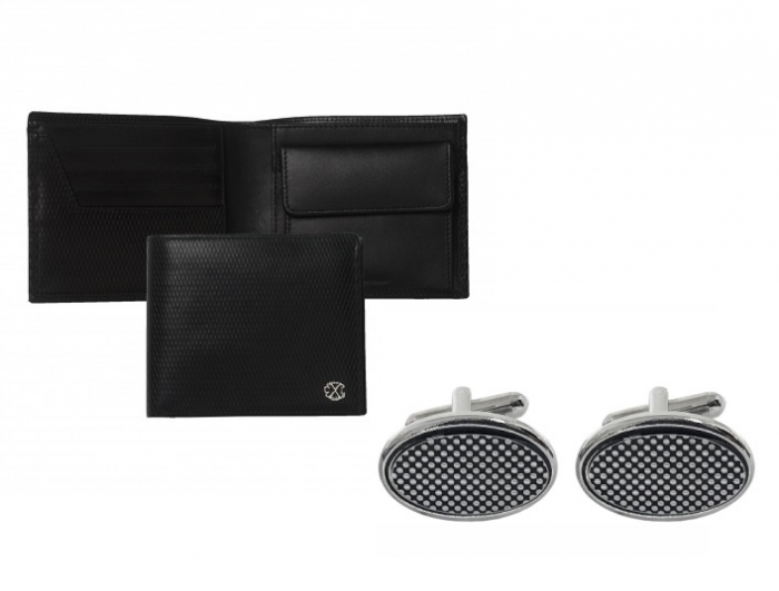Portofel Christian Lacroix piele naturala si butoni Fume Desk Elegance by Borealy 0