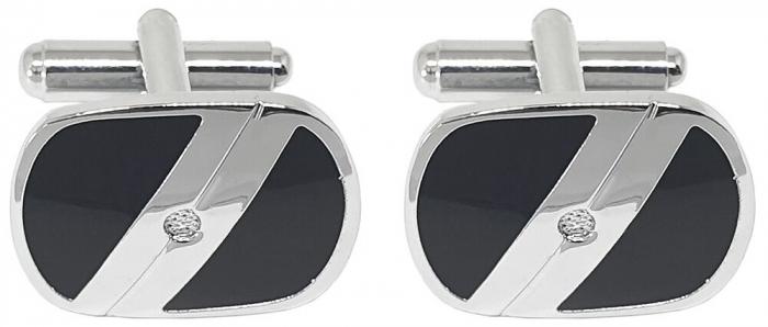 Premium Business Gift Set Mapa Conferinta Hugo Boss A6 si Butoni Tourbillon Silver 2