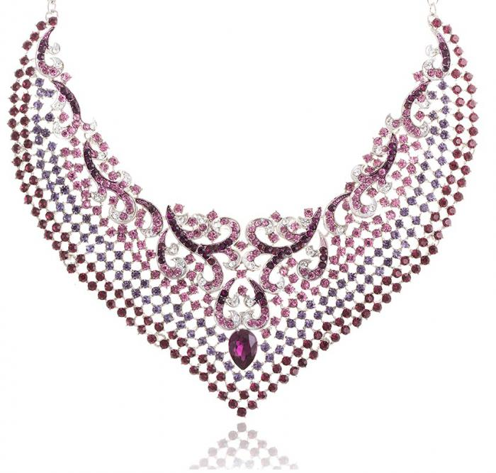 Purple Paradise Luxury Set colier cercei 3