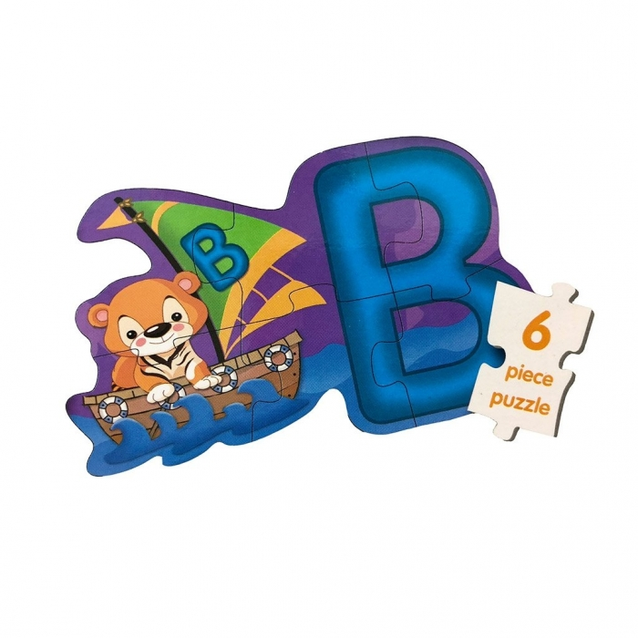 Puzzle 4in1 Model ABC - jucarie creativ educativa 3
