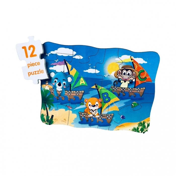 Puzzle 4in1 Model ABC - jucarie creativ educativa 5
