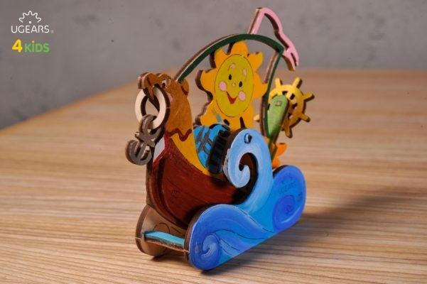 Puzzle din lemn Barca cu panze [2]