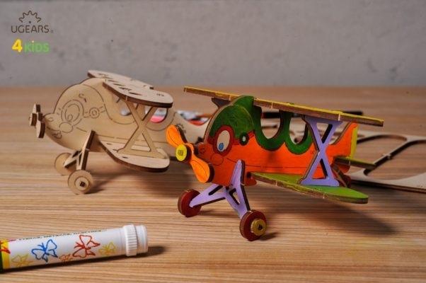 Puzzle din lemn Biplan 1