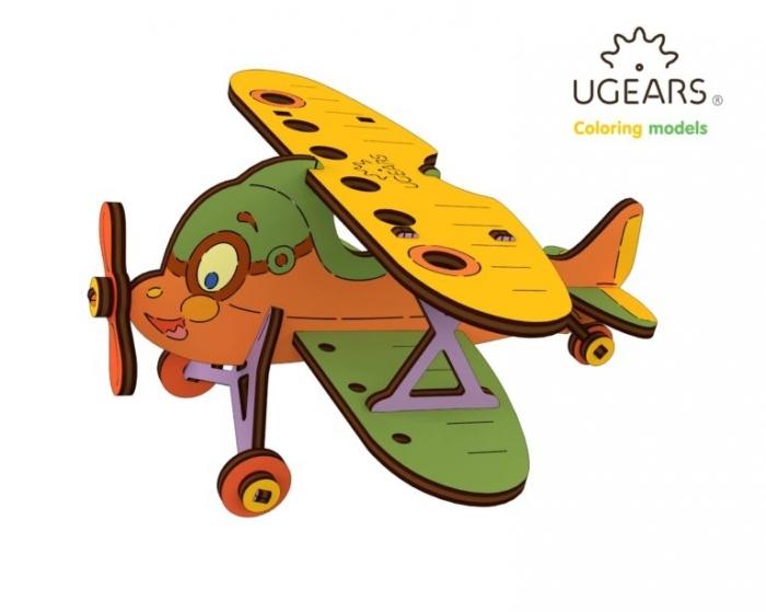 Puzzle din lemn Biplan 0