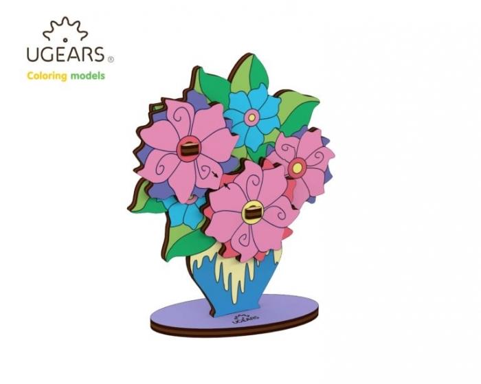 Puzzle din lemn Buchet de flori 0