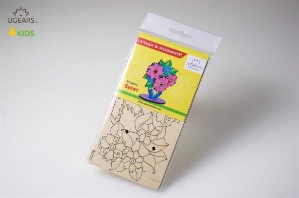 Puzzle din lemn Buchet de flori 4