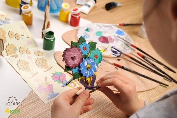 Puzzle din lemn Buchet de flori 2