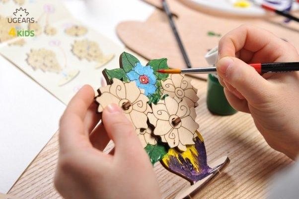 Puzzle din lemn Buchet de flori 1