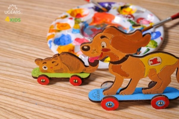 Puzzle din lemn Kitty and Puppy-big