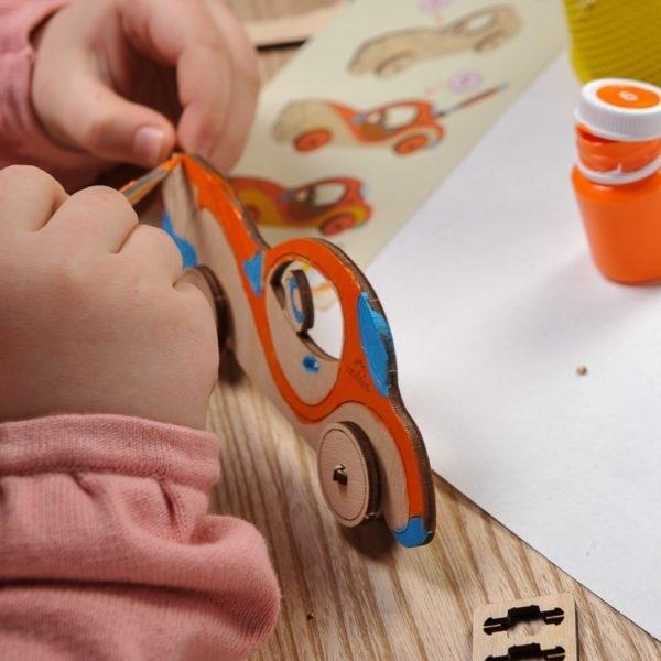Puzzle din lemn Masina 2