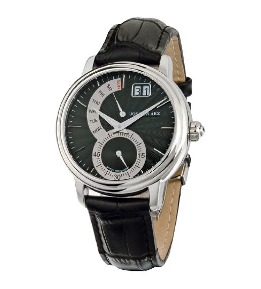 Retrograde Watch Black&Silver Jos von Arx 2
