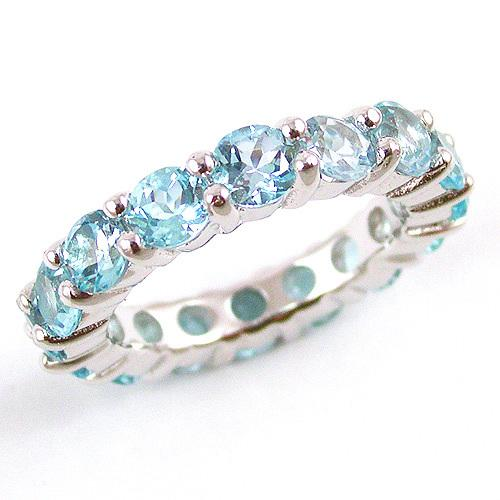 Inel Blue Topaz Natural Eternity 5 carate 0