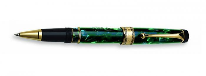 Rollerball Pen Optima Auroloide Emerald Green Gold Plated-big