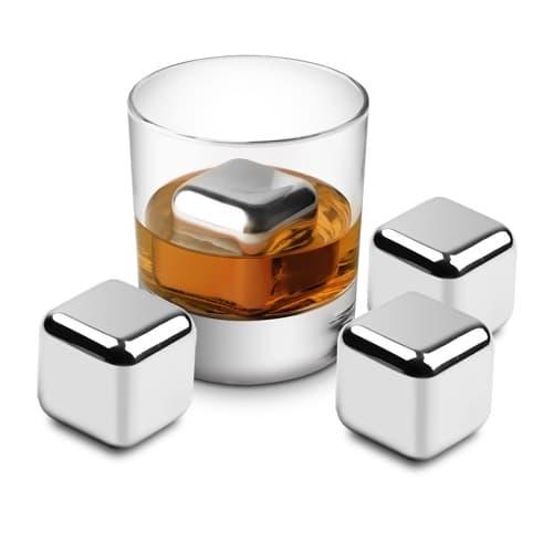 Round Cooling Cubes - Cuburi otel pentru racire bauturi si cleste otel [2]