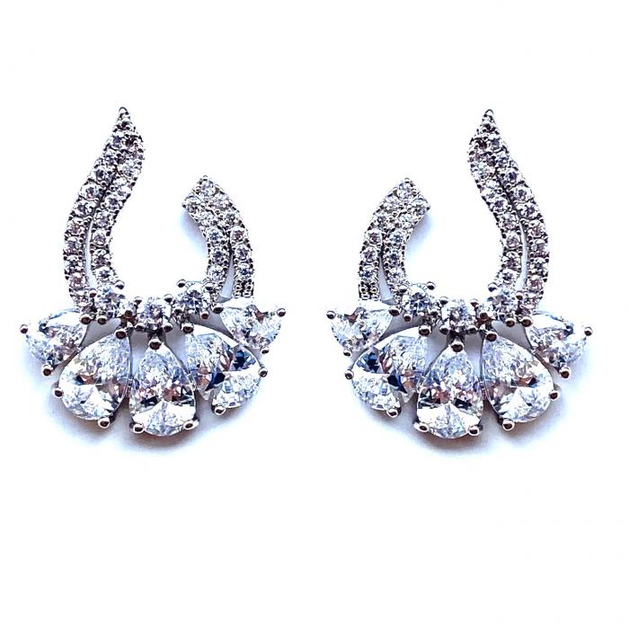 Iris Marquise Cut Diamonds Cercei [0]