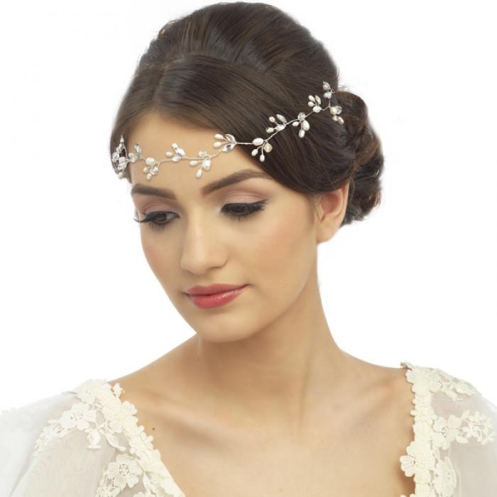 Tiara Borealy Pearl Romance Hairvine 1